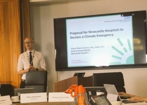 Newcastle upon Tyne Hospitals Board discussion of potential climate emergency declaration